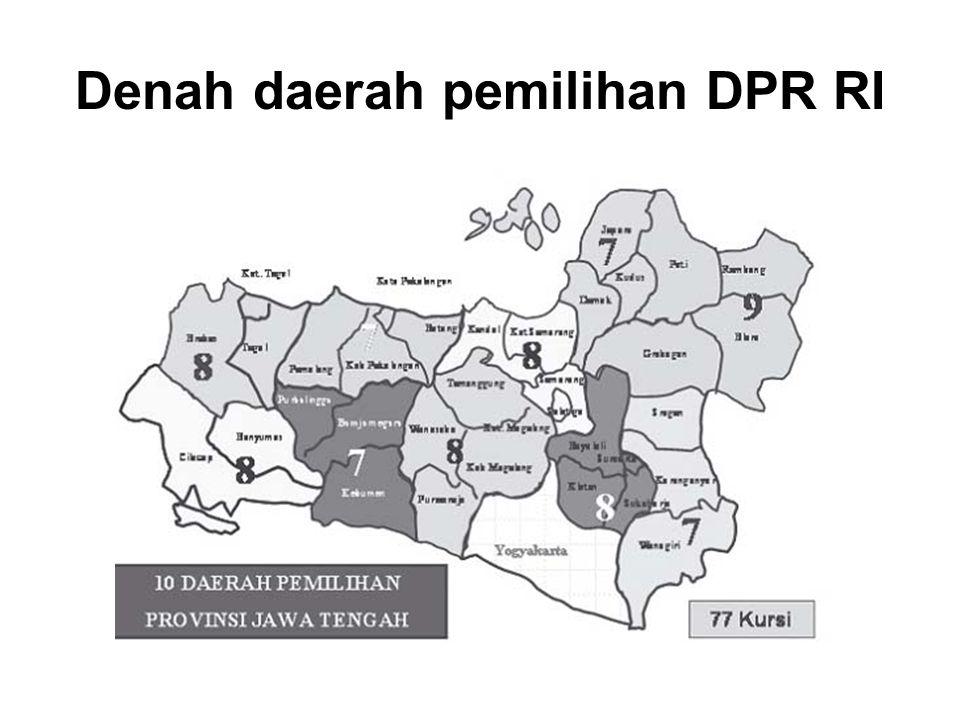 Denah daerah pemilihan DPR RI