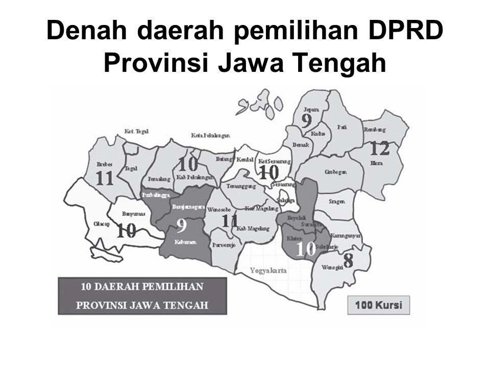Denah daerah pemilihan DPRD Provinsi Jawa Tengah