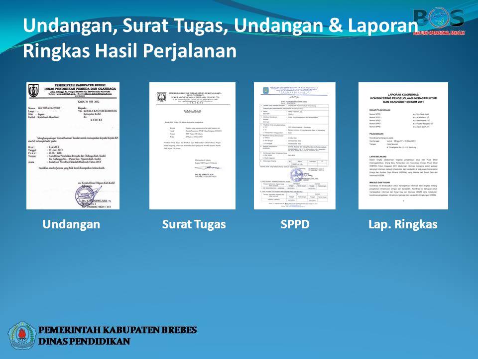 Undangan, Surat Tugas, Undangan & Laporan Ringkas Hasil Perjalanan UndanganSurat TugasSPPDLap. Ringkas