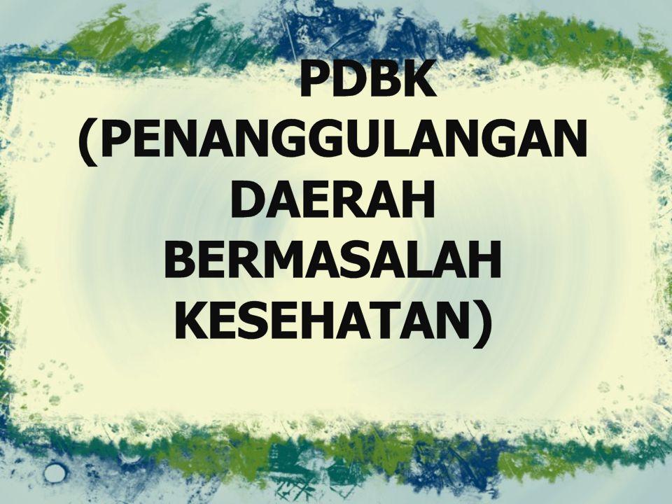 DBK ( DAERAH BERMASALAH KESEHATAN) adalah kabupaten atau kota yang mempunyai nilai IPKM (Indeks Pembangunan Kesehatan Masyarakat) di antara 0 (terburuk) sampai 1 (terbaik).