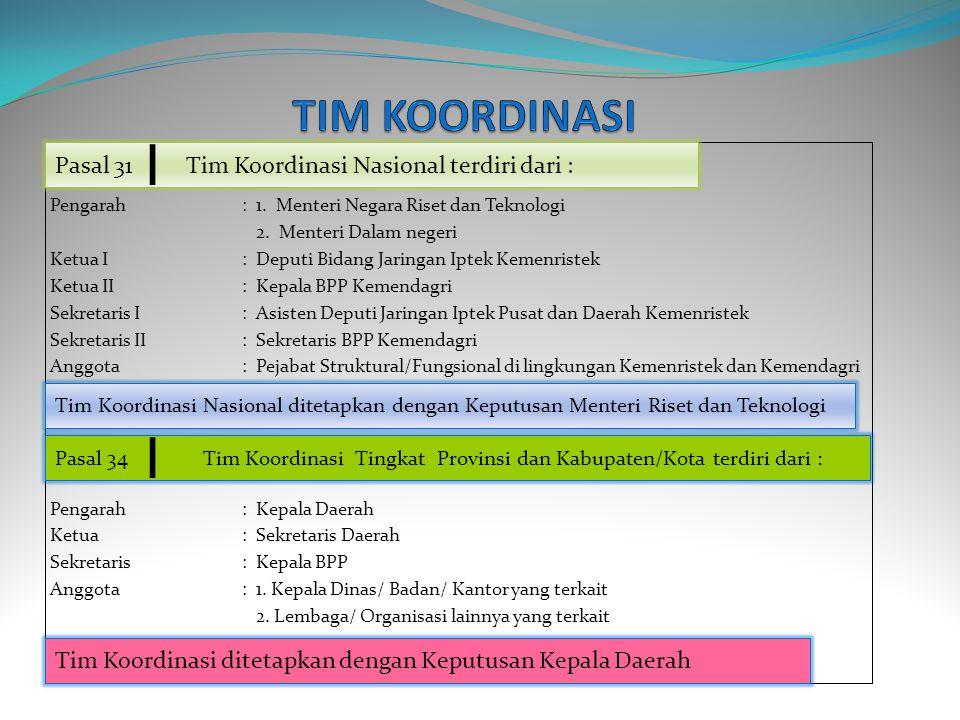 Pengarah: 1.Menteri Negara Riset dan Teknologi 2.