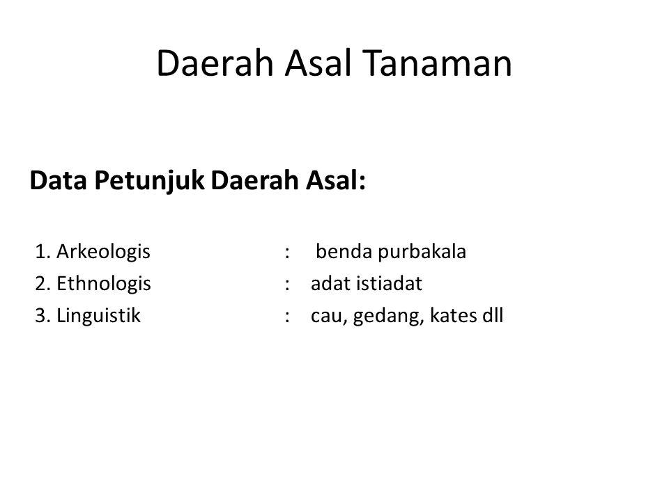 Sentra Primer Daerah Asal Tanaman 2.