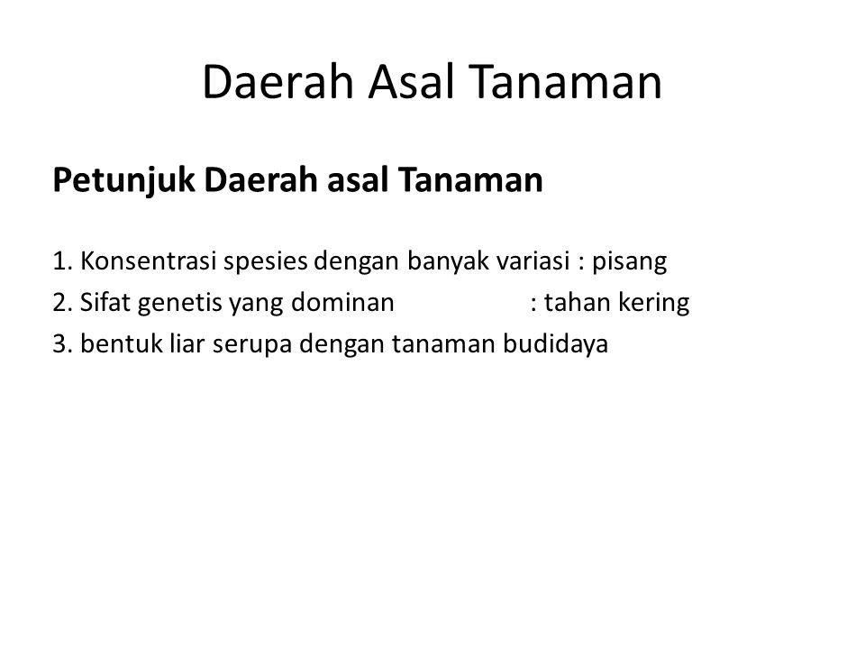 Sentra Primer Daerah Asal Tanaman 7.