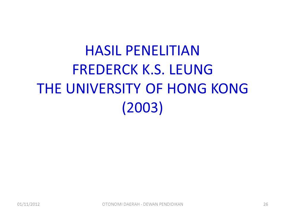 HASIL PENELITIAN FREDERCK K.S.