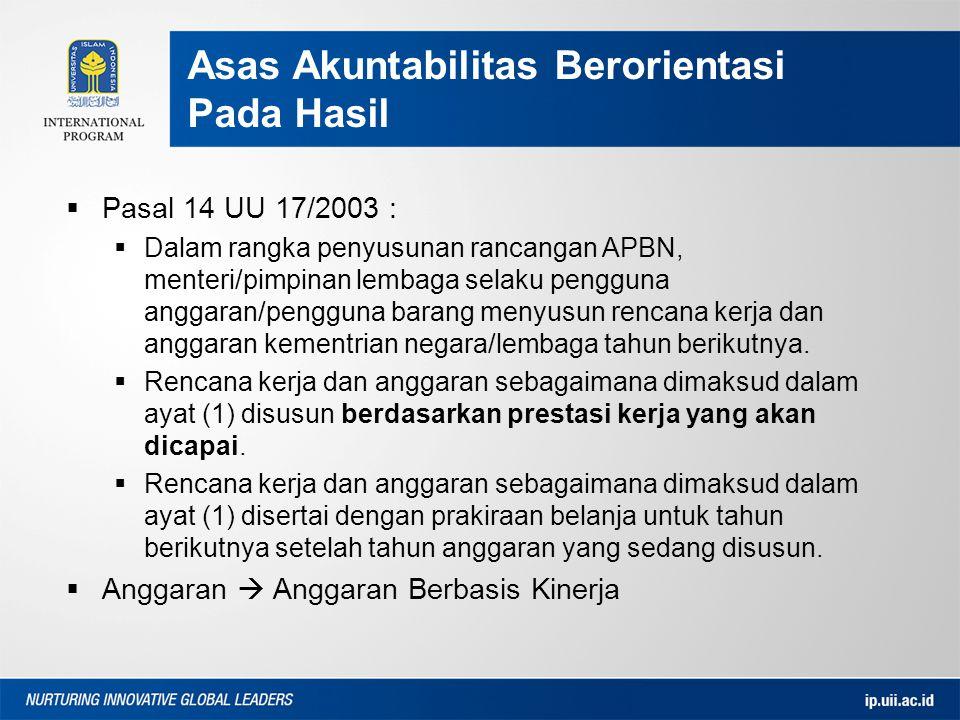  Pasal 14 UU 17/2003 :  Dalam rangka penyusunan rancangan APBN, menteri/pimpinan lembaga selaku pengguna anggaran/pengguna barang menyusun rencana k