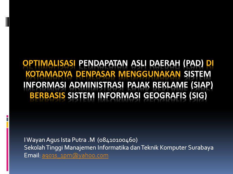 I Wayan Agus Ista Putra.M (08410100460) Sekolah Tinggi Manajemen Informatika dan Teknik Komputer Surabaya Email: a903s_1pm@yahoo.coma903s_1pm@yahoo.com