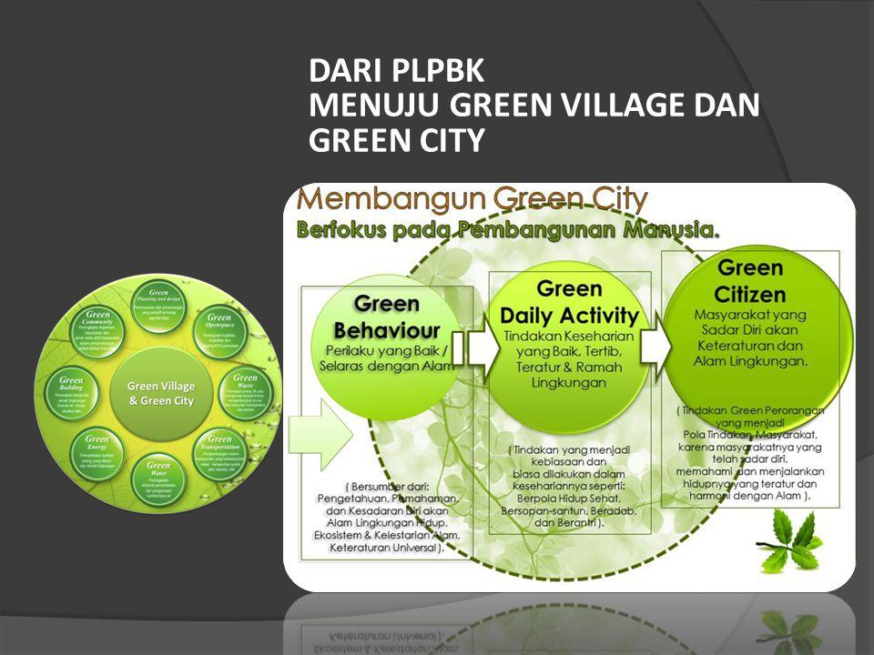 DARI PLPBK MENUJU GREEN VILLAGE DAN GREEN CITY