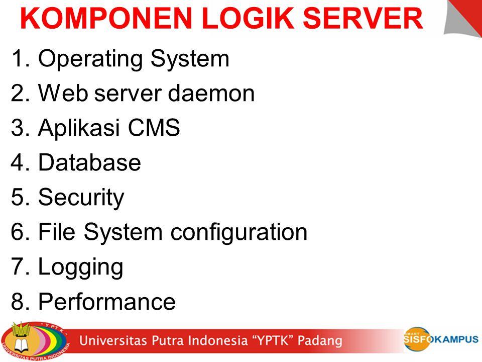 KOMPONEN FISIK SERVER 1.Casing server 2.CPU 3.RAM / Memory 4.Harddisk / Storage 5.LAN Card