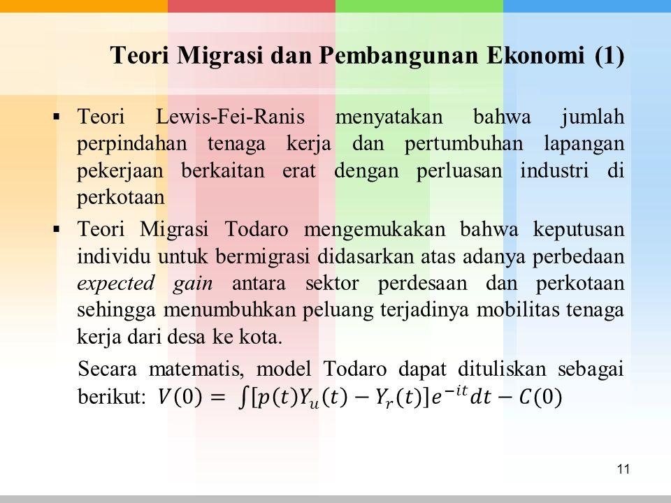 Teori Migrasi dan Pembangunan Ekonomi (1) 11