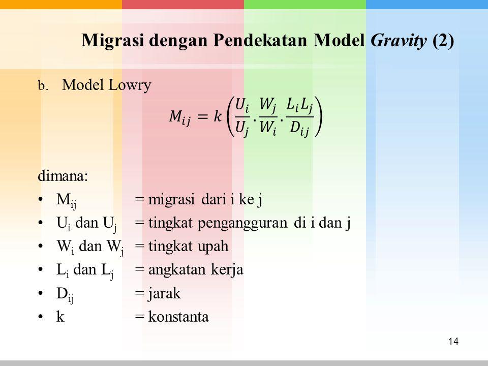 Migrasi dengan Pendekatan Model Gravity (2) 14