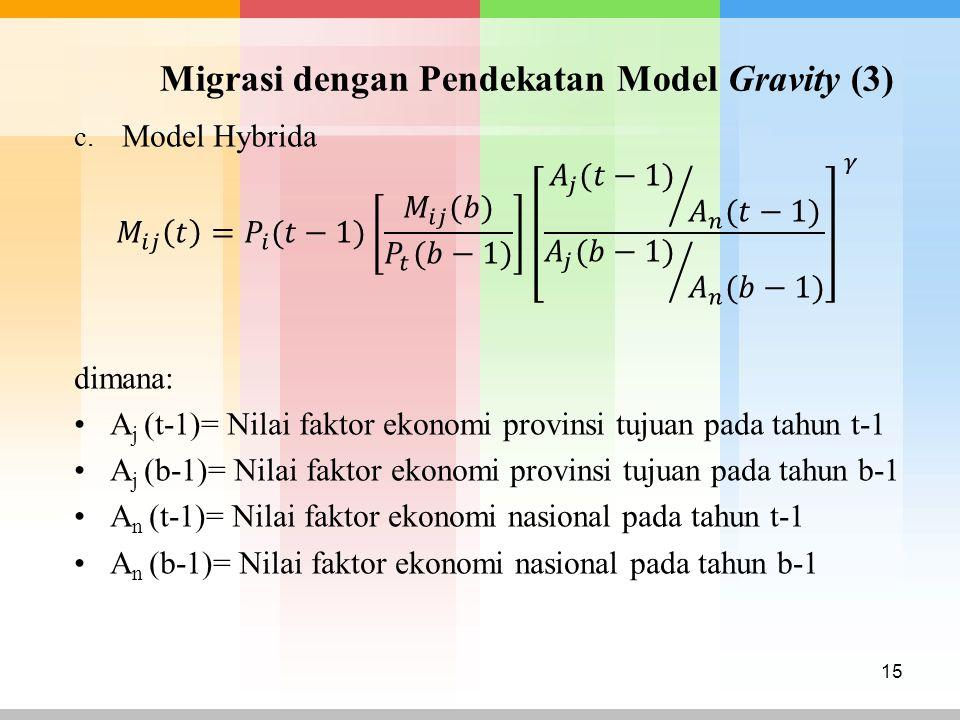 Migrasi dengan Pendekatan Model Gravity (3) 15