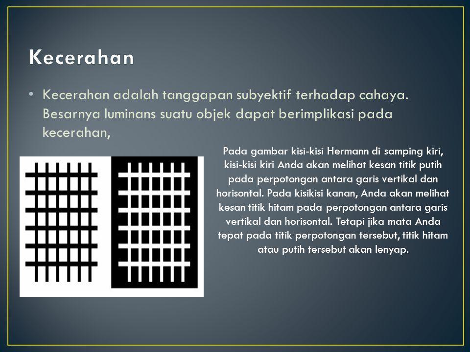 Sudut penglihatan (visual angle) adalah sudut yang berhadapan oleh objek pada mata.