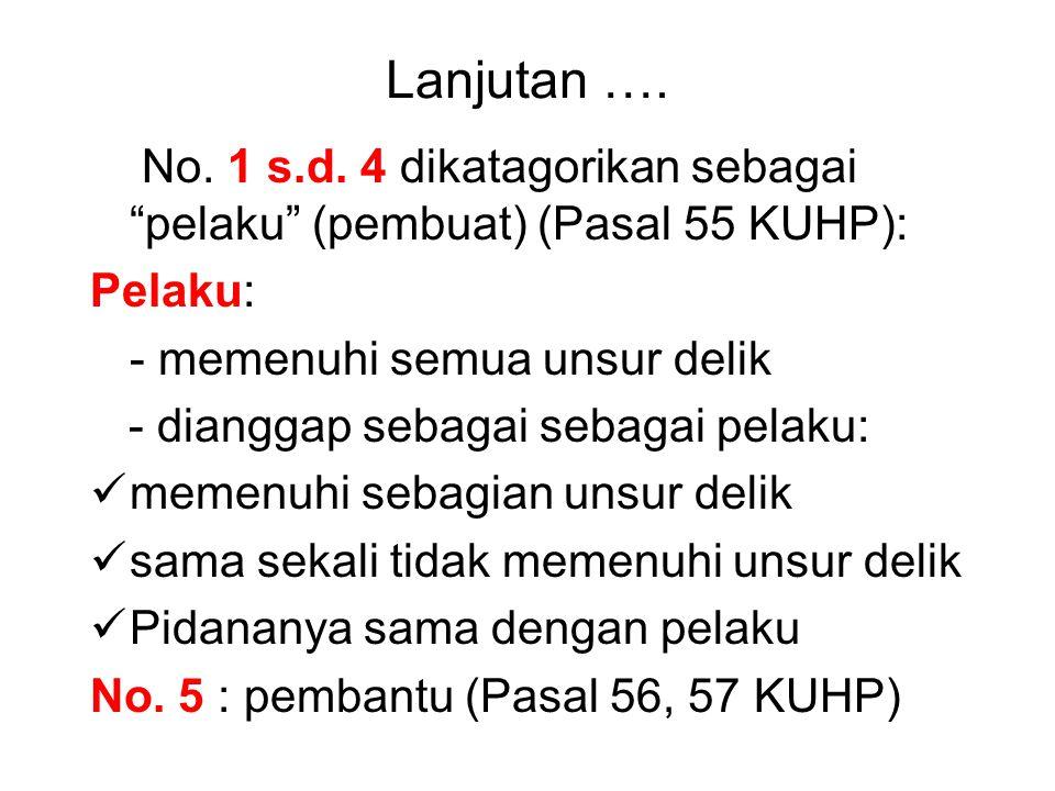 Golongan Peserta dalam Tindak Pidana menurut KHUP Indonesia a.