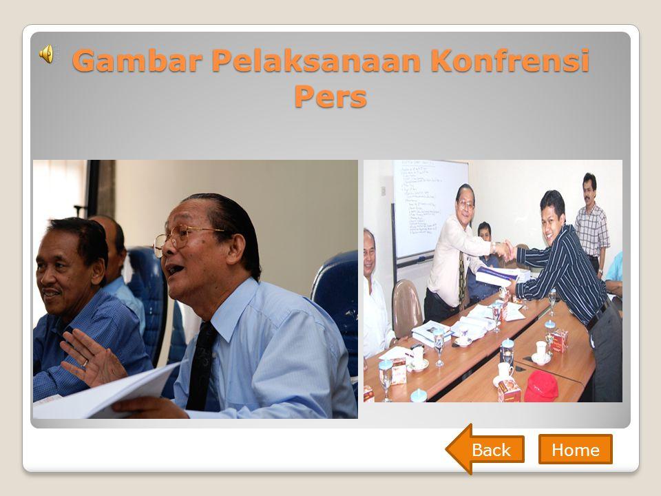 Gambar Pelaksanaan Konfrensi Pers Back Home