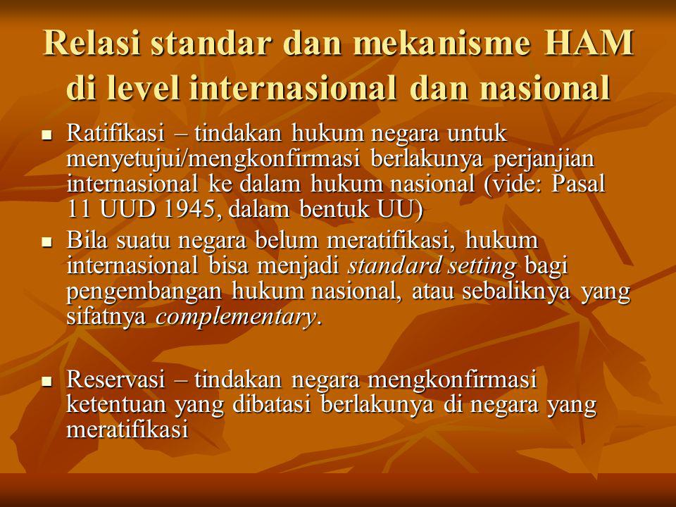 Reservasi terhadap Women's Convention The Government of the Republic of Indonesia does not consider itself bound by the provisions of article 29, paragraph 1 of this Convention and takes the position that any dispute relating to the interpretation or application of the Convention may only be submitted to arbitration or to the International Court of Justice with the agreement of all the parties to the dispute. The Government of the Republic of Indonesia does not consider itself bound by the provisions of article 29, paragraph 1 of this Convention and takes the position that any dispute relating to the interpretation or application of the Convention may only be submitted to arbitration or to the International Court of Justice with the agreement of all the parties to the dispute.