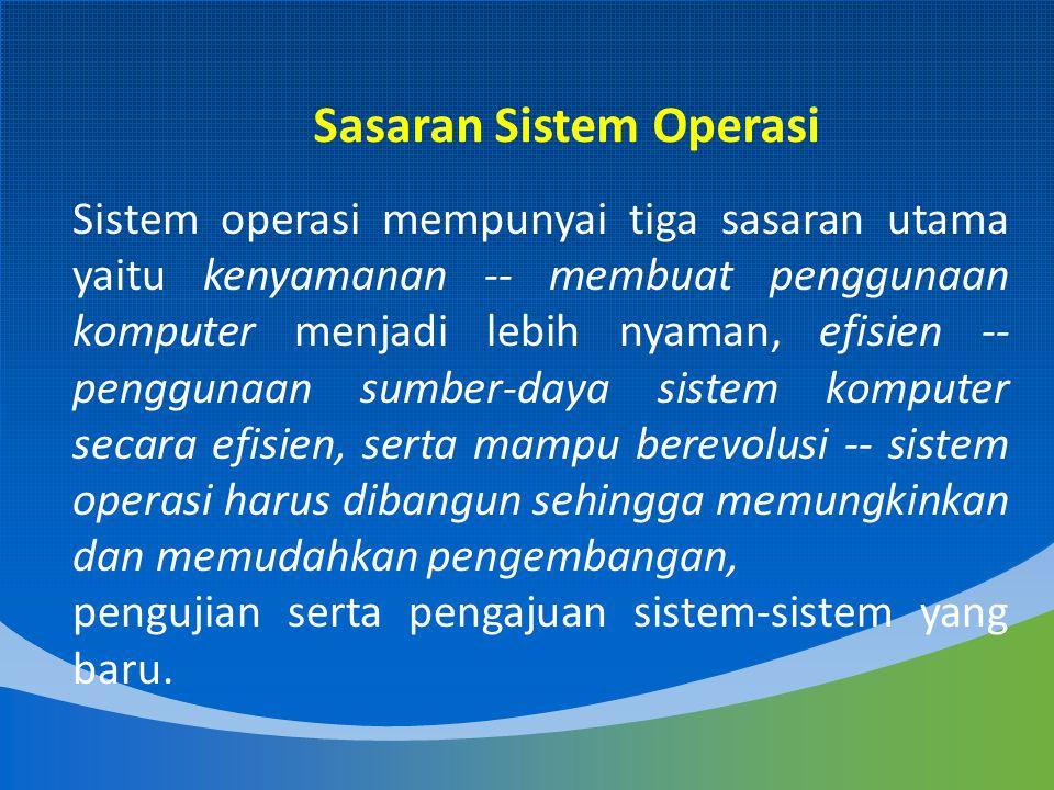 Menurut Tanenbaum, sistem operasi mengalami perkembangan yang sangat pesat, yang dapat dibagi kedalam empat generasi: Sejarah Sistem Operasi