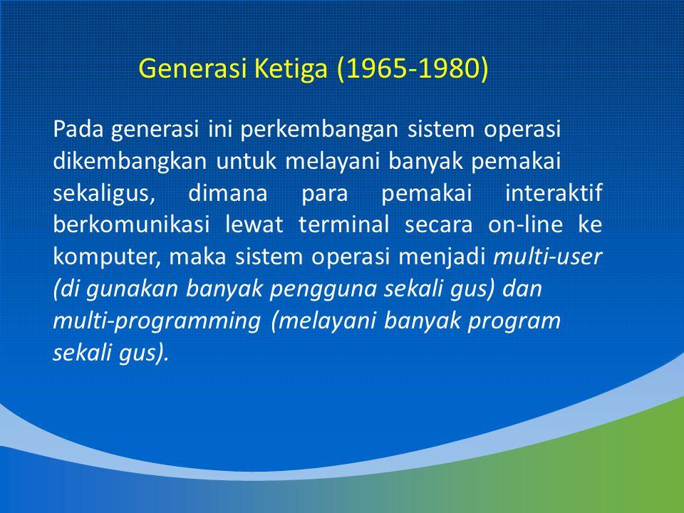 Macintosh Operating System merupakan OS yang pertama mengunakan sistem GUI (Graphical User Interface).