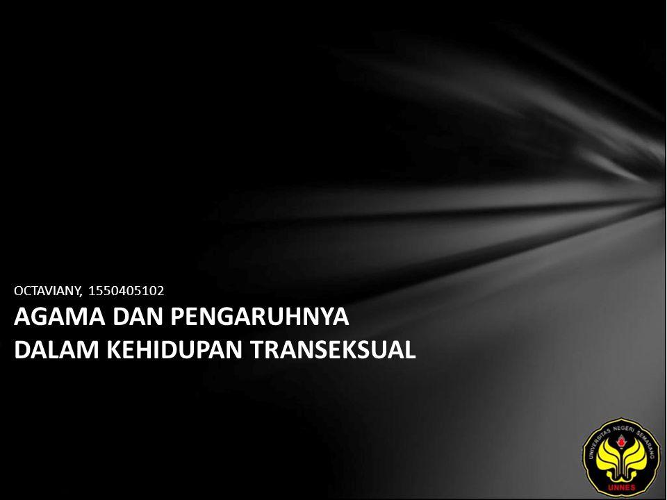Identitas Mahasiswa - NAMA : OCTAVIANY - NIM : 1550405102 - PRODI : Psikologi - JURUSAN : Psikologi - FAKULTAS : Ilmu Pendidikan - EMAIL : pnkers_lovers pada domain yahoo.co.id - PEMBIMBING 1 : Rulita Hendriyani, S.