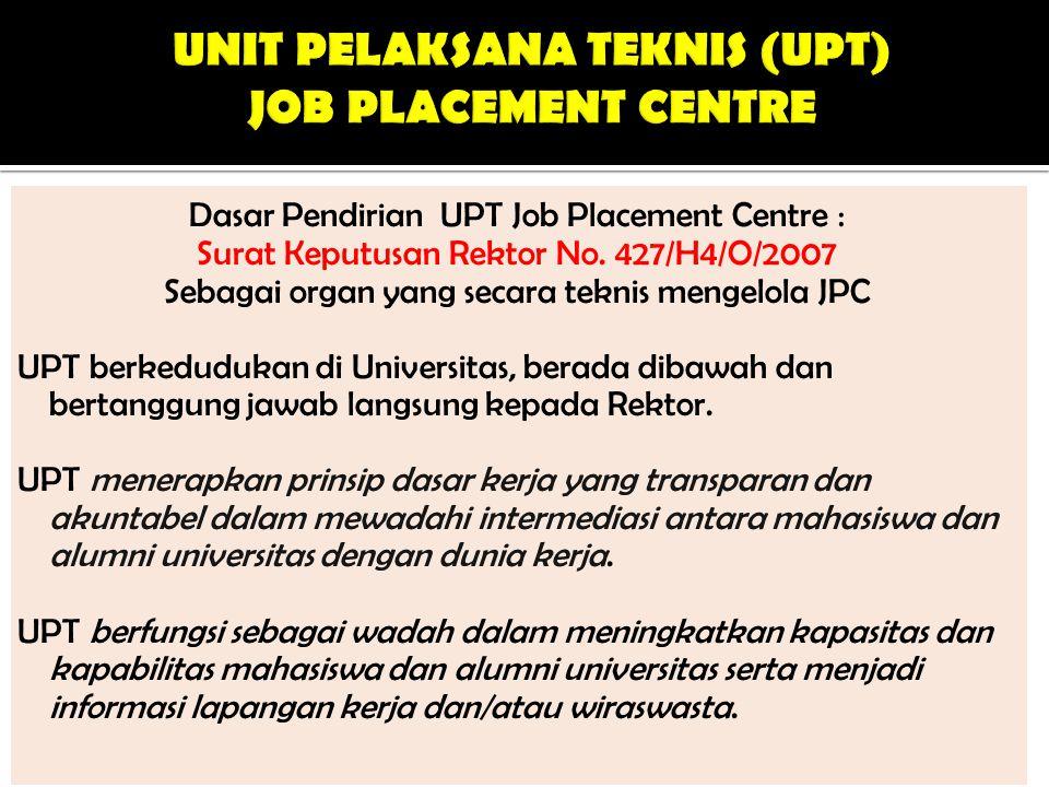 Struktur dan susunan organisasi UPT terdiri atas : a.