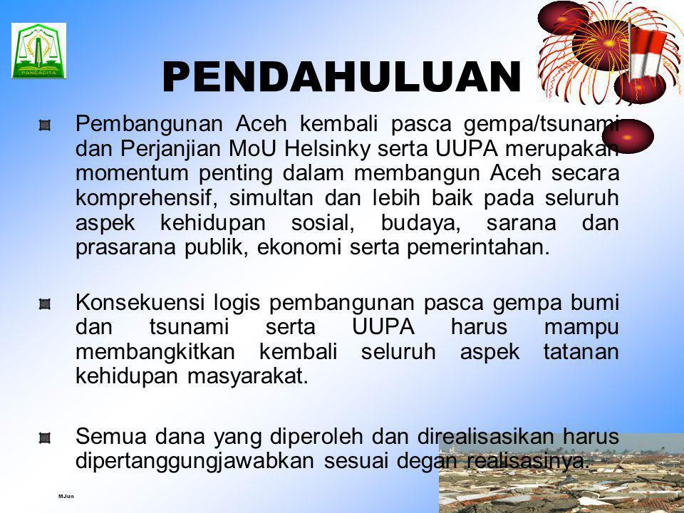 Oleh : H. Sayed Fuad Zakaria, SE Ketua DPR Aceh Disampaikan Pada Acara World Bank Seminar Series I, 27 Juli 2007 (Analisis Masalah dan Solusi Kebijaka