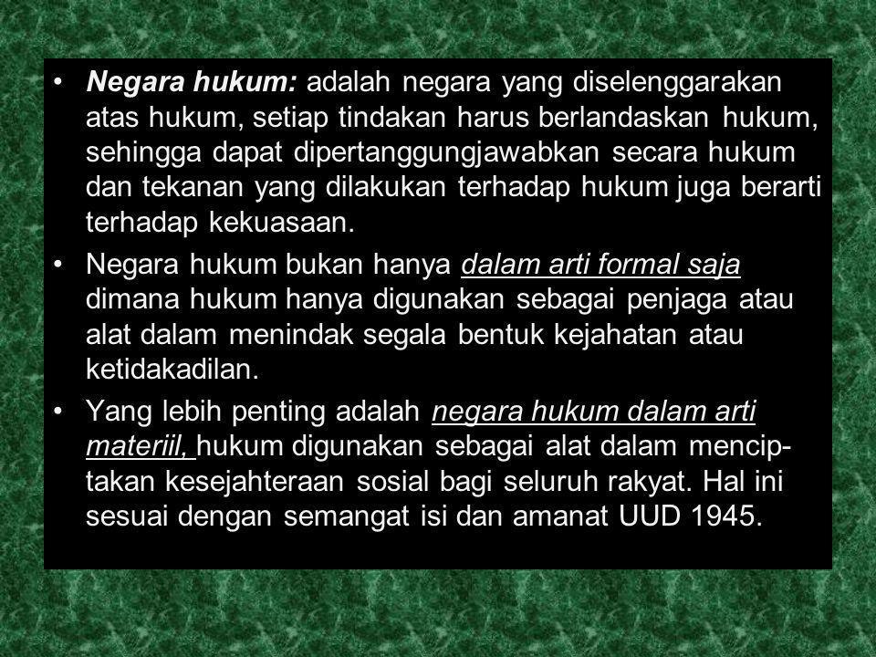 Pokok-pokok Pikiran UUD 1945 Pokok pikiran pertama; Paham negara persatuan Pokok pikiran kedua; Negara hendak mewujudkan keadilan social bagi seluruh rakyat Indonesia .