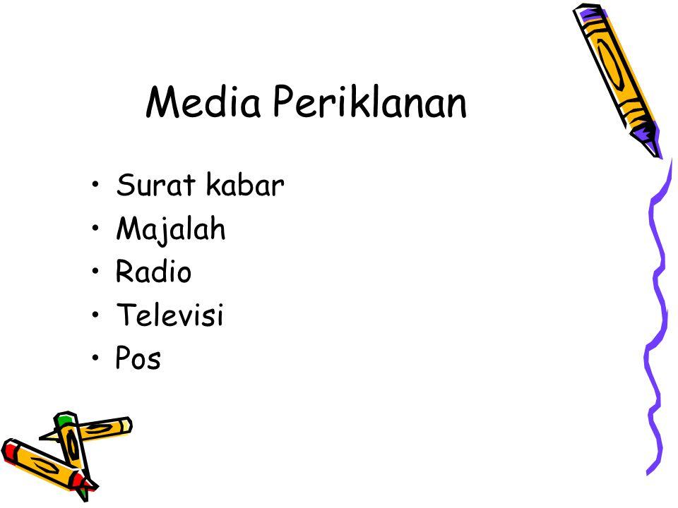 Media Periklanan Surat kabar Majalah Radio Televisi Pos
