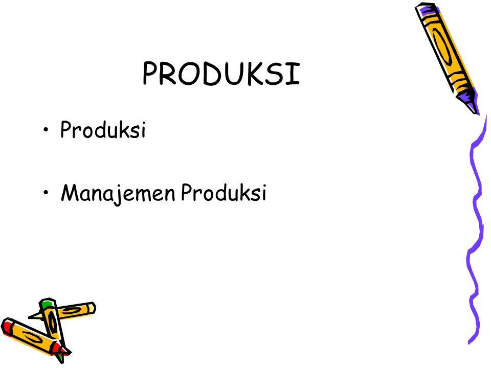 PRODUKSI Produksi Manajemen Produksi