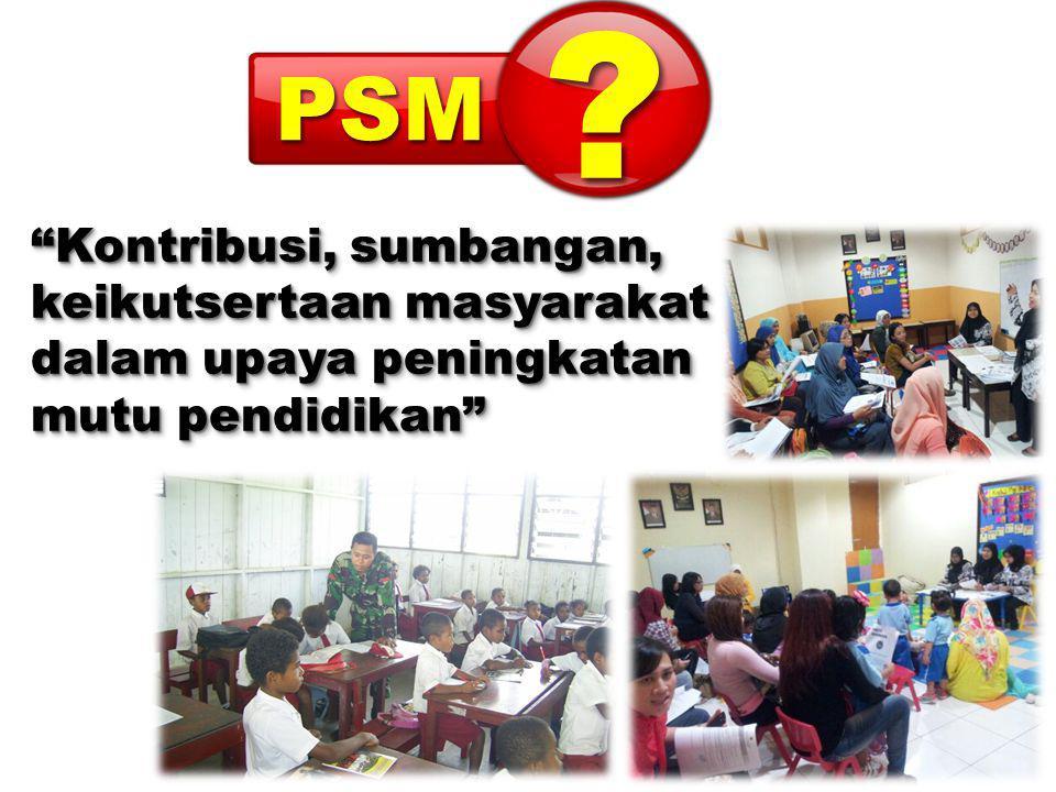 Kontribusi, sumbangan, keikutsertaan masyarakat dalam upaya peningkatan mutu pendidikan Kontribusi, sumbangan, keikutsertaan masyarakat dalam upaya peningkatan mutu pendidikan ??PSMPSM