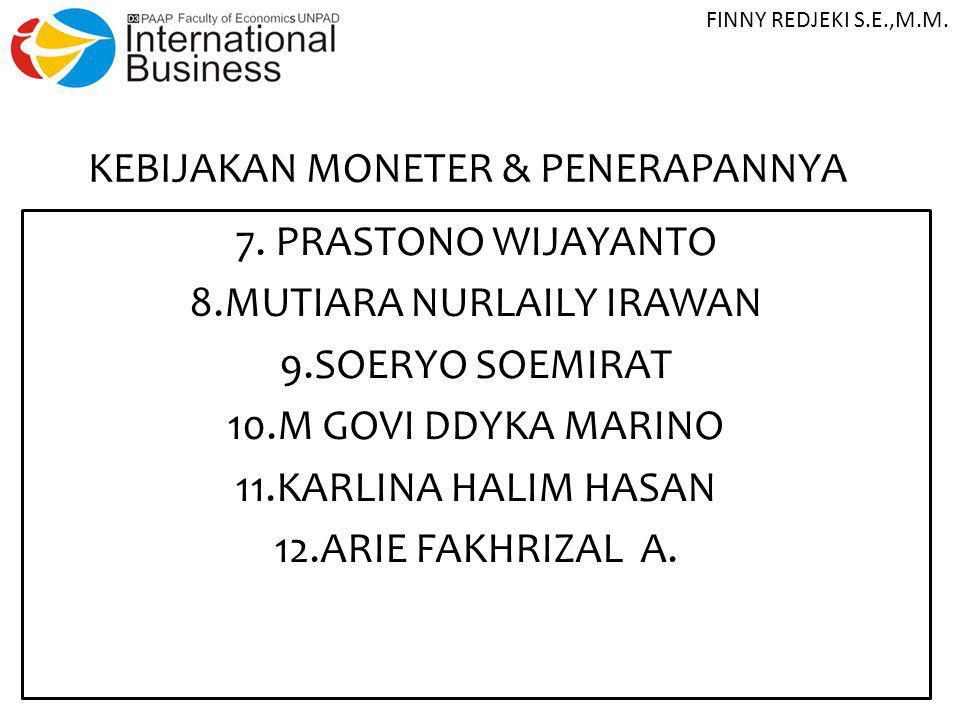 ARSITEKTUR PERBANKAN INDONESIA (API) 13.LIA ANJANI SUBAGJA 14.