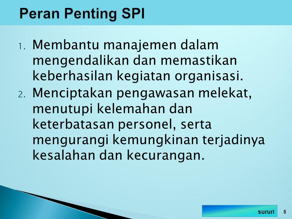 1.Concurrent Test of Controls Pengujian SPI dilakukan bersamaan dengan pemahaman SPI.