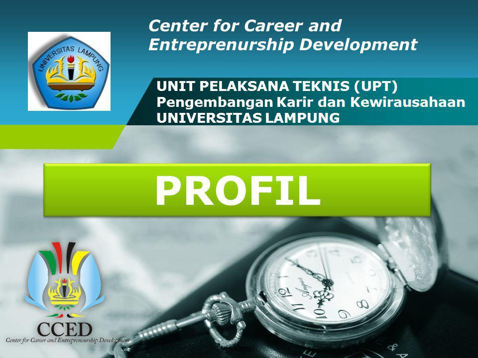 CCED UNILA UNIT PELAKSANA TEKNIS (UPT) Pengembangan Karir dan Kewirausahaan UNIVERSITAS LAMPUNG Center for Career and Entreprenurship Development PROF