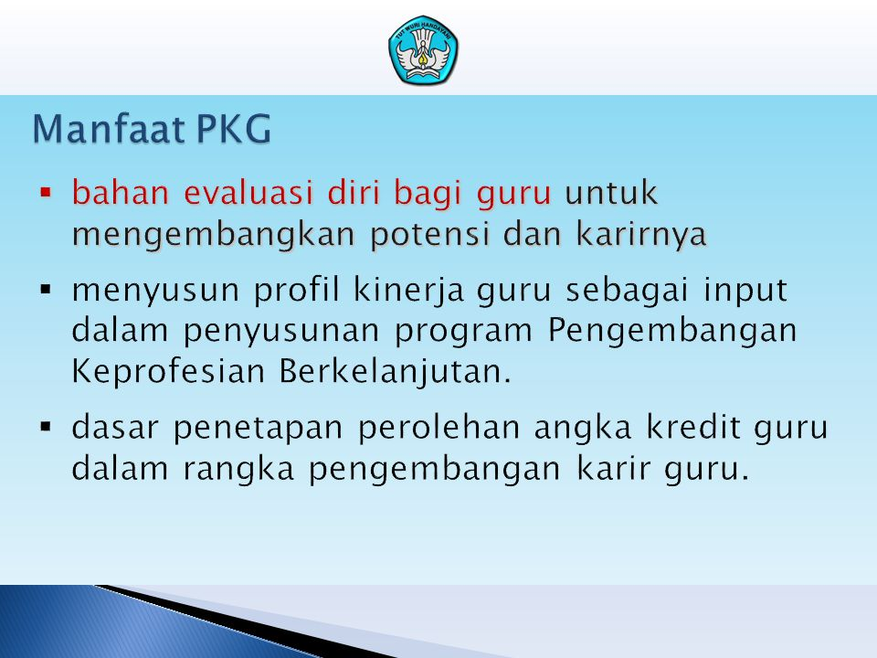 Manfaat PKG