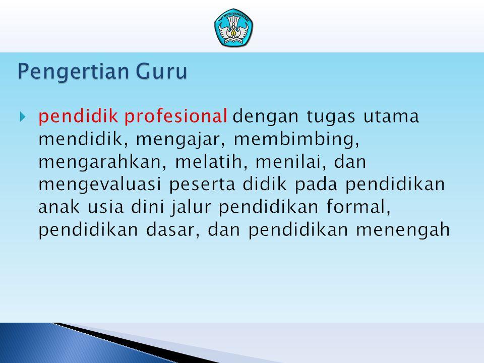 Unsur dan Sub Unsur Kegiatan Guru UNSUR UTAMA A.Pendidikan1.