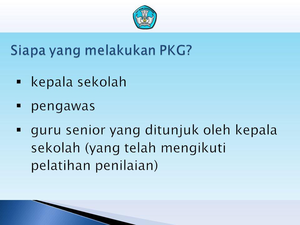 Siapa yang melakukan PKG?
