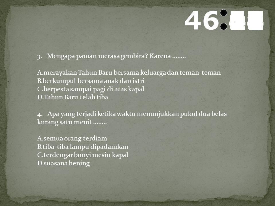 47 595857565554535251504948474645444342414039383736353433323130292827262524232221201918171615141312111009080706050403020100 1. Judul yang tepat untuk