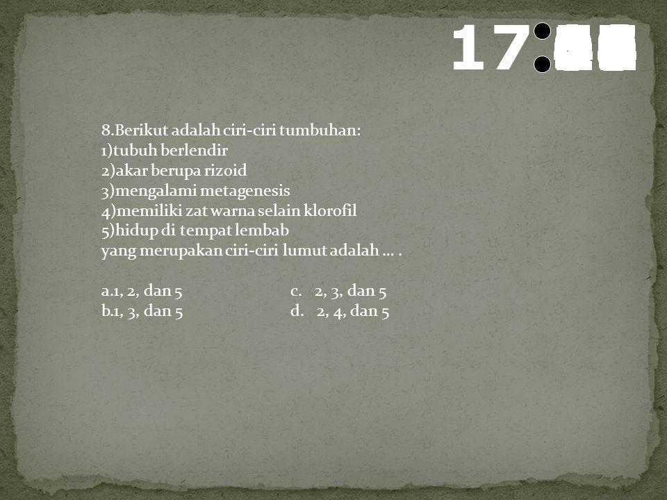 18 595857565554535251504948474645444342414039383736353433323130292827262524232221201918171615141312111009080706050403020100 7.Data beberapa hewan: 1)k