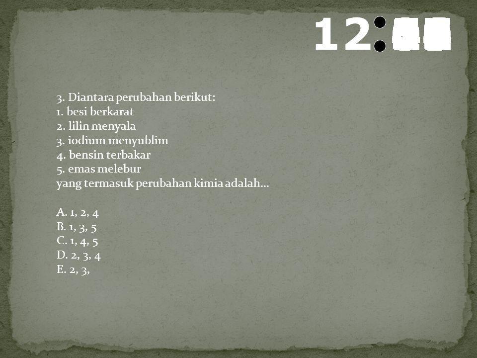 13 595857565554535251504948474645444342414039383736353433323130292827262524232221201918171615141312111009080706050403020100 2. Percobaan reaksi kimia