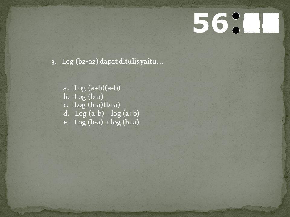 57 595857565554535251504948474645444342414039383736353433323130292827262524232221201918171615141312111009080706050403020100 2. F(x) = 2 log (x+5) + 2