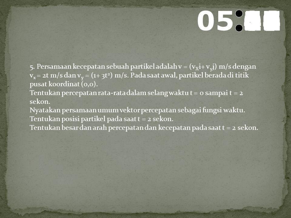06 595857565554535251504948474645444342414039383736353433323130292827262524232221201918171615141312111009080706050403020100 4. Tentukan posisi partike