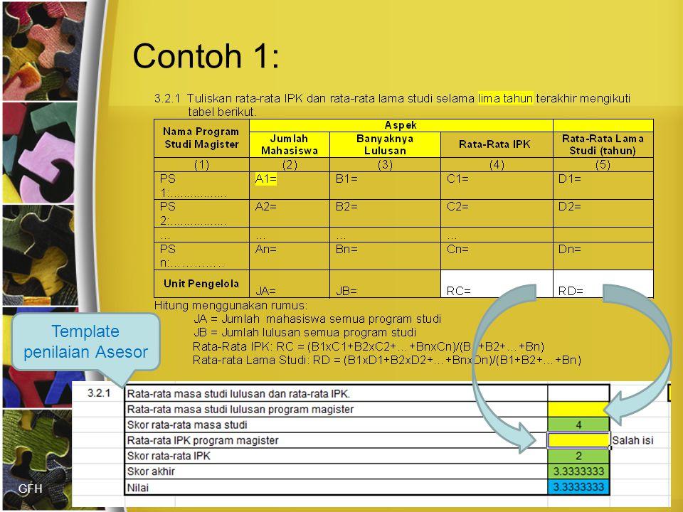 GFH Contoh 1: Template penilaian Asesor
