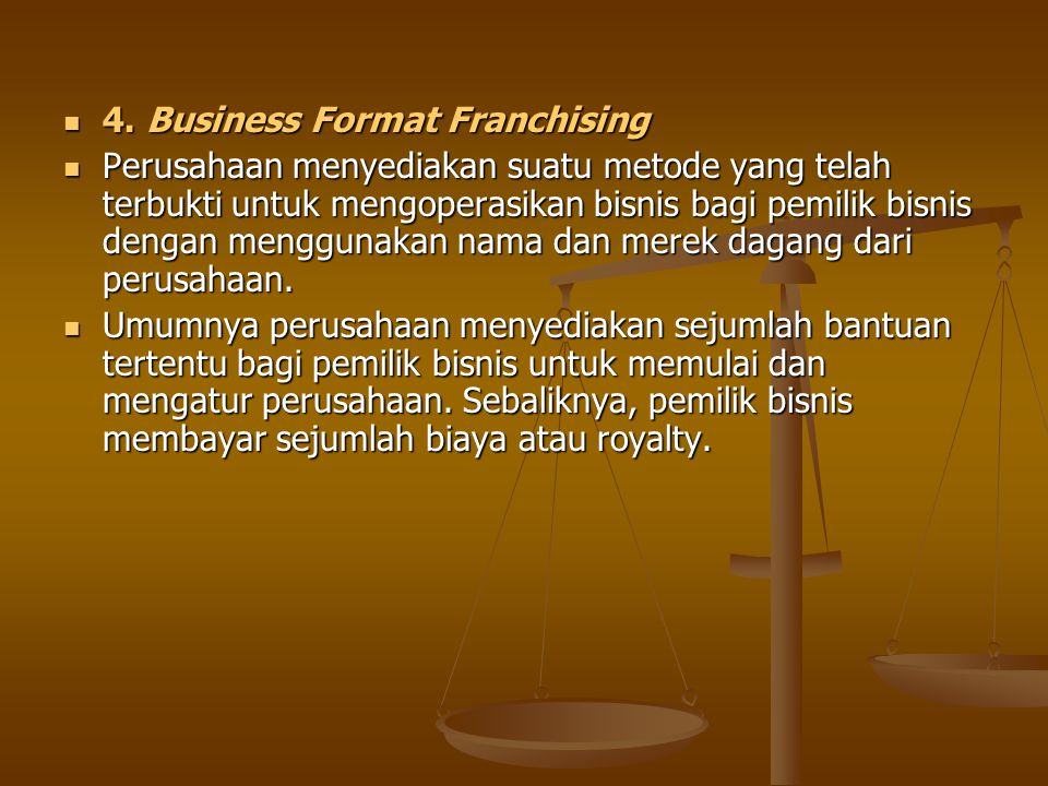 4.Business Format Franchising 4.