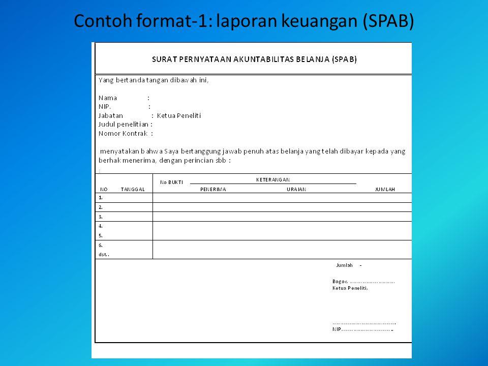 Contoh format-1: laporan keuangan (SPAB)