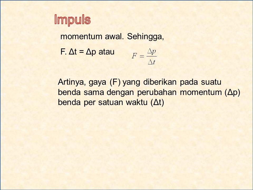 momentum awal.Sehingga, F.