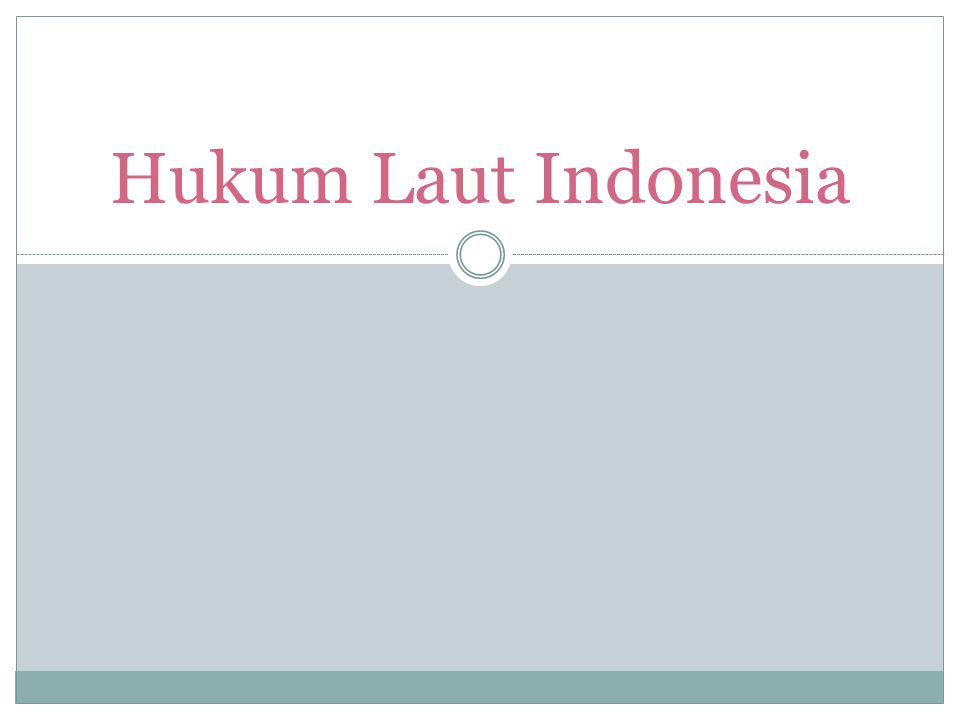 Hukum Laut Indonesia