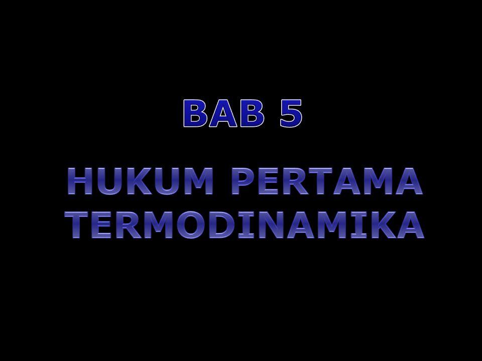 22 Hukum I Termodinamika dapat ditulis sebagai:  Q = d(nU) + P d(nV) Untuk proses dengan P konstan:  Q = d(nU) + d(nPV) = d{n (U + PV)} Didefinisikan sebagai enthalpy (H) H  U + PV Persamaan di atas dapat ditulis sebagai:  Q = d(nH) Q = n  H (4.12) (4.13) (4.14) Untuk n = 1  Q =  H (4.14a)