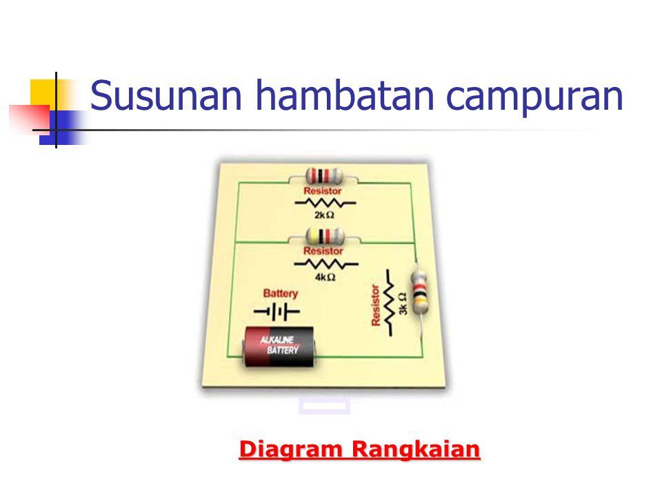 Susunan hambatan campuran Diagram Rangkaian Diagram Rangkaian