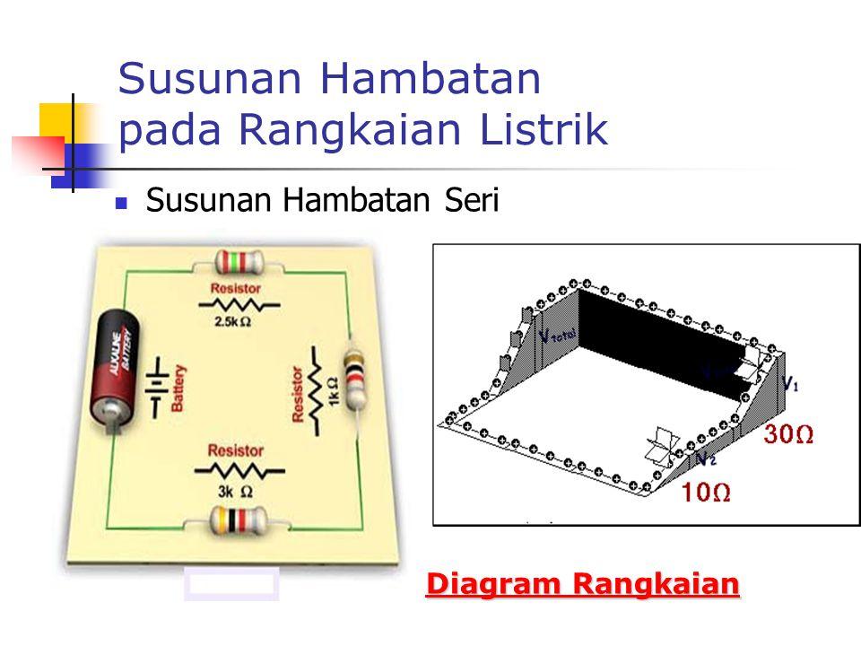 Susunan Hambatan pada Rangkaian Listrik Susunan Hambatan Seri Diagram Rangkaian Diagram Rangkaian
