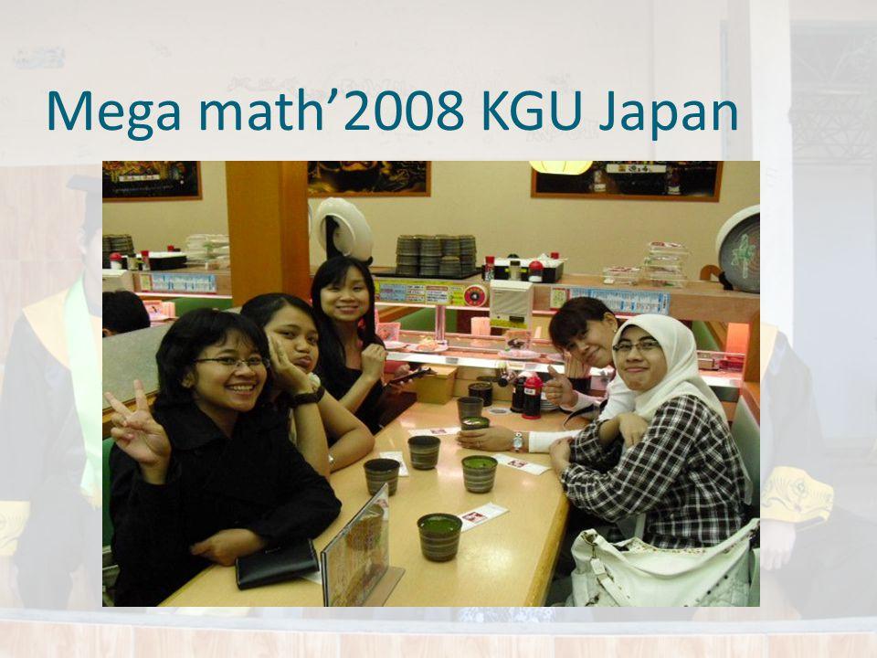 Mega math'2008 KGU Japan