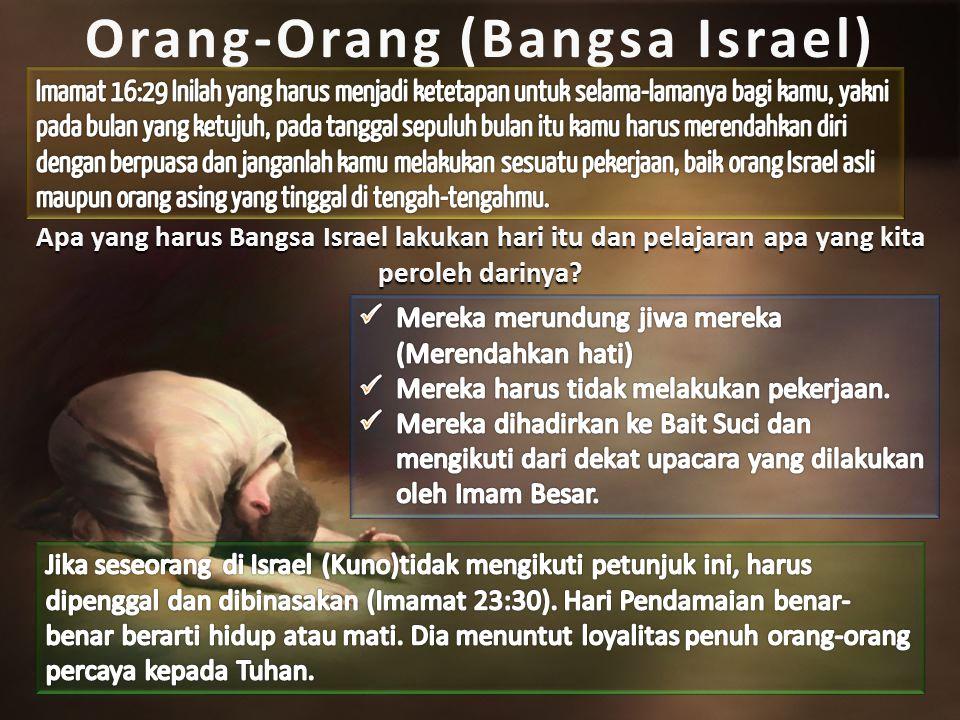Orang-Orang (Bangsa Israel) Apa yang harus Bangsa Israel lakukan hari itu dan pelajaran apa yang kita peroleh darinya?