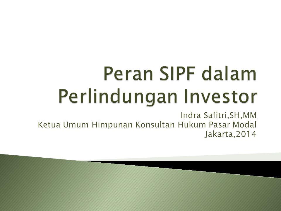Indra Safitri,SH,MM Ketua Umum Himpunan Konsultan Hukum Pasar Modal Jakarta,2014